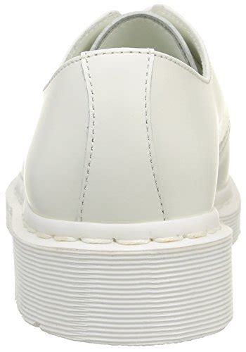 dr martens  mono smooth white unisex adults derby