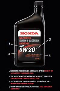 0w 20 Honda Synthetic Change