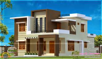 flat roof home designs 204 square meter flat roof house kerala home design and