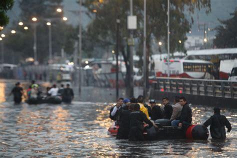 imagenes de indios verdes inundado la cdmx padece segundo d 237 a inundaciones colapsa el