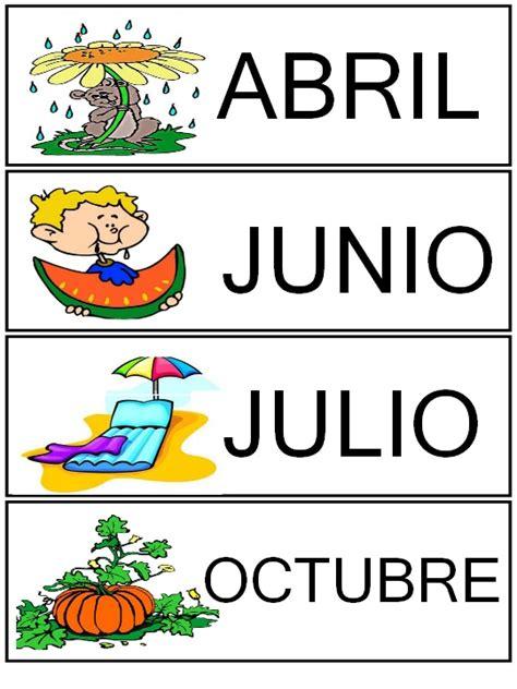 imagenes en ingles de los meses del año meses del a 241 o rinc 243 n de infantil