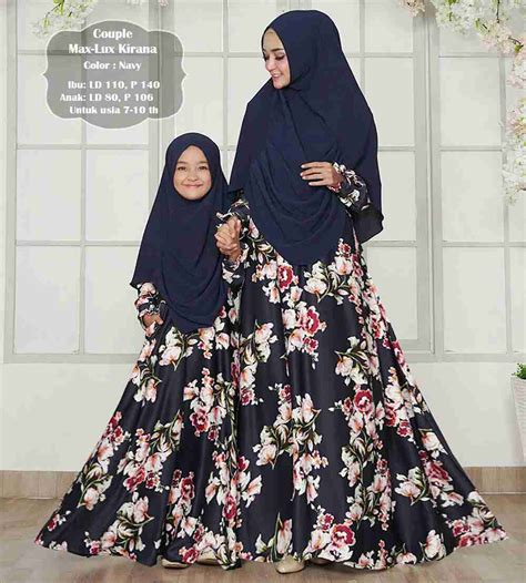 Cp Navy Muslim Ibu Dan Anak gamis ibu dan anak maxmara kirana navy model