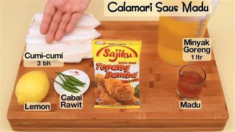 cara membuat empek empek dapur umami dapur umami calamari saus madu youtube