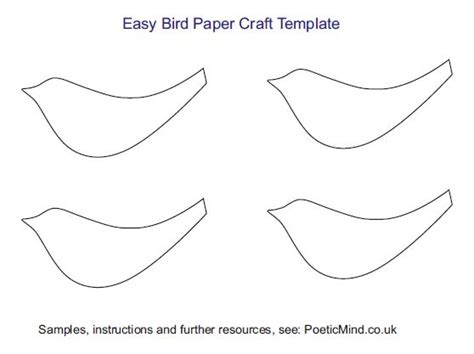 Paper Bird Craft Template - sukkot workshop poetic mind