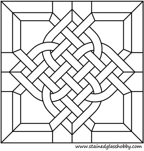 design is square celtic square design stained glass panel