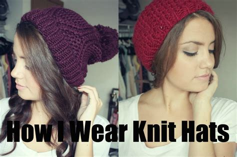 how to wear a knit hat how i wear knit hats