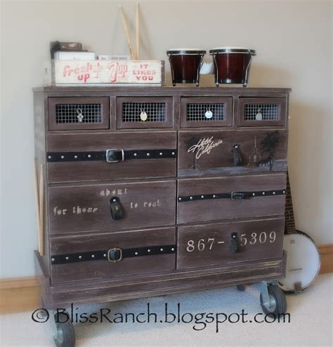 recycled furniture fabulous rock music themed dresser