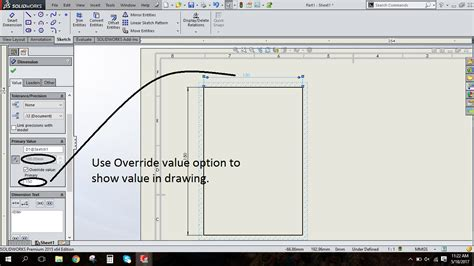 edit sketch pattern solidworks design tech academy change dimension in drafting without