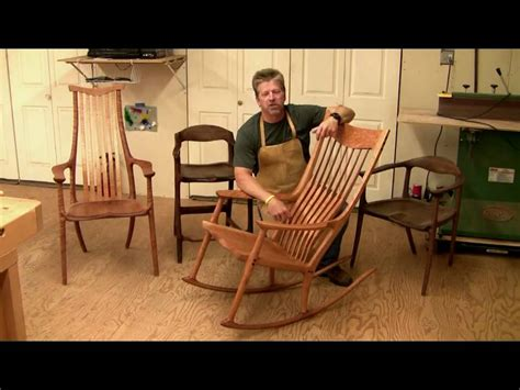How To Make Chairs - learn how to build a maloof style rocking chair 6 hrs of