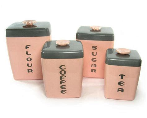 pink kitchen canisters 1950s pink canister set kitchen from retroburgh mid