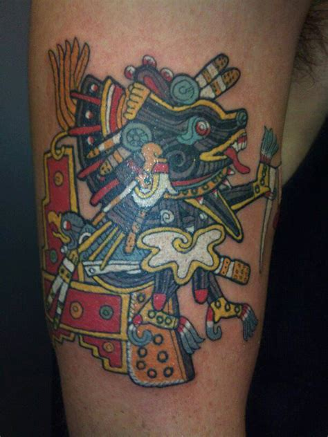 tribal tattoo god a tribal aztec tattoo design of xolotl the aztec god of