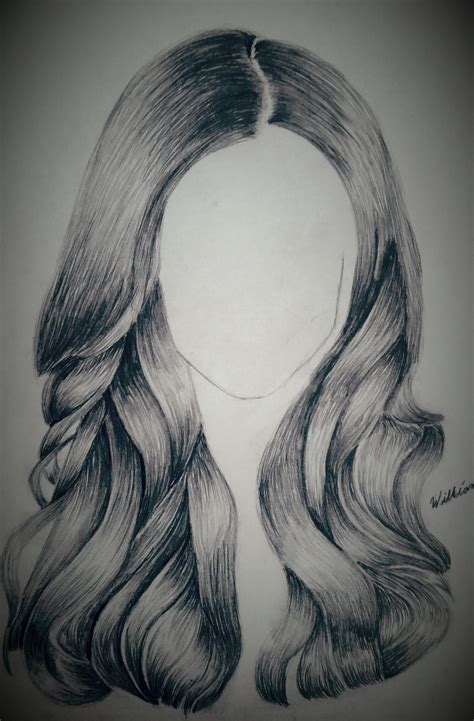 sketches of hair pencil drawing of hair by dubz002 on deviantart