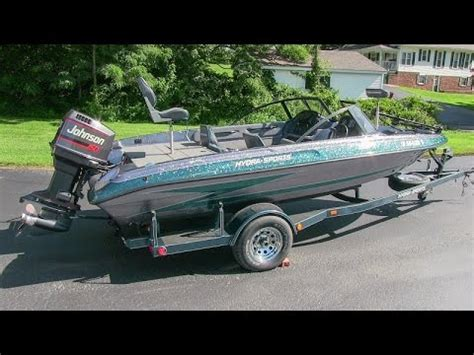 hydra sport bass boats reviews 1995 hydra sport 185 bass boat with 150 hp johnson