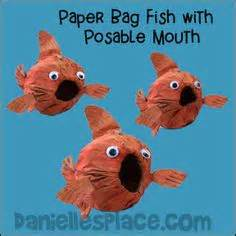 Paper Bag Fish Craft - fish and the sea crafts on 35 pins
