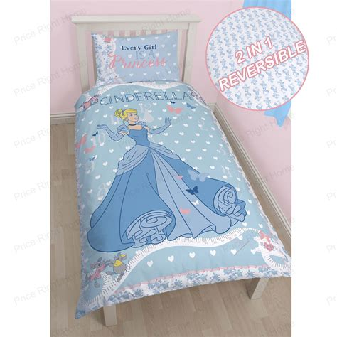 cinderella bedding set disney princess cinderella single duvet cover set new
