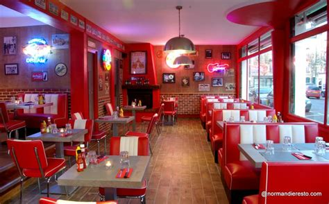 american diner deko le fifty s american diner au havre restaurant burger