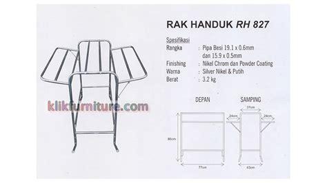 Rak Handuk Aluminium rh 827 sapporo rak handuk besi promo