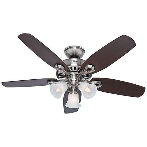 small bedroom ceiling fan hunter 42 in indoor brushed nickel builder small room