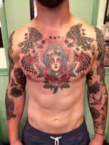 tattoo designs for chest piece best 25 traditional chest ideas on