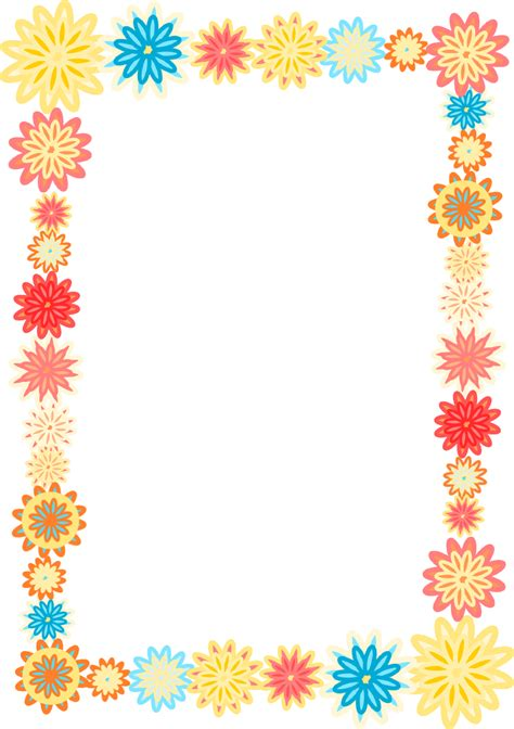 printable borders with flowers free printable flower borders clipart best