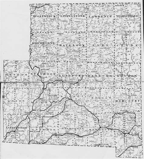 Ontario Canada Genealogy Marriage Records Haliburton County And Regional Maps
