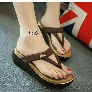Sandal Kelom Modern Modis Dan Cantik Nyaman Dan Tidak Licin Model sandal japit wedges modern model terbaru dan murah