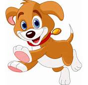 Cartoon Dog Cute Happy Puppy Vector Clipart Pictures