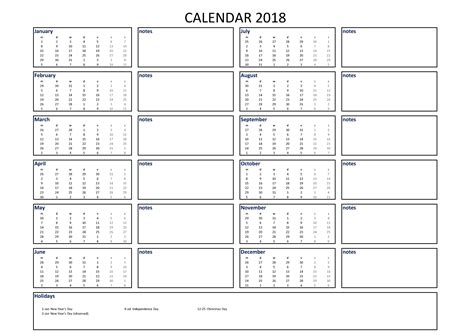 printable monthly calendar with space for notes 2018 calendar excel a4 size with notes download our free