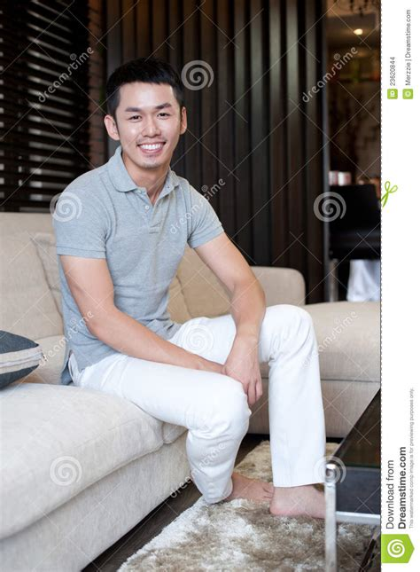 how to make a man feel comfortable attractive asian man stock images image 23620844