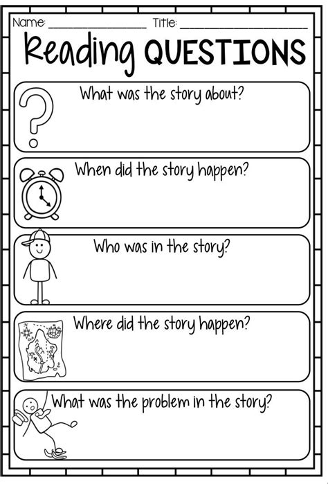 printable games for kindergarten reading reading response worksheets graphic organizers and
