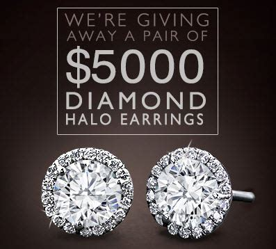 Halo Sweepstakes - adiamor sweepstakes win a pair of halo diamond earrings adiamor