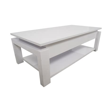 87% OFF   White Lift Top Coffee Table / Tables