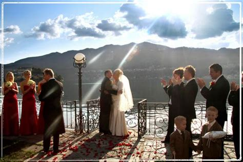 Wedding Blessing Outside by Blessing Ceremony On Lake Orta Italy
