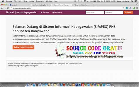 code source codeigniter download source code gratis php sistem informasi