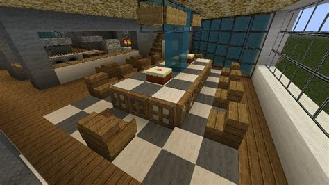 Dining Room Table Minecraft Modern Luxury Estate Updated World Minecraft Project