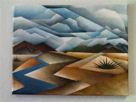 cubist landscape paintings cubist landscape painting by brandon allebach