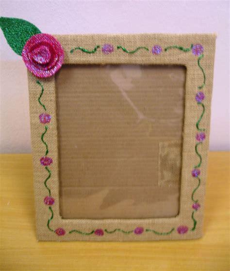 como hacer portaretratos de carton portaretratos reciclados con cart 243 n yute y foamy