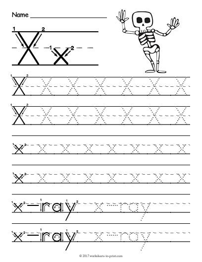 free printable letter x tracing worksheets tracing letter x worksheet