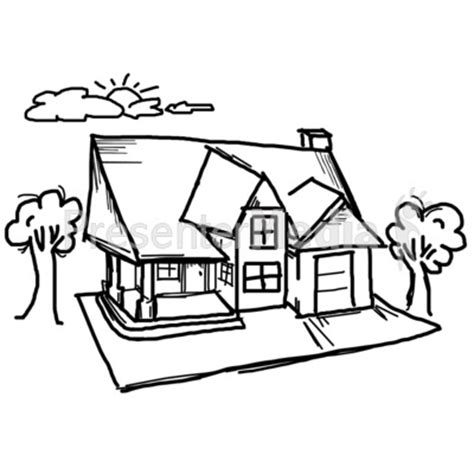 home sketch house sketch clipart