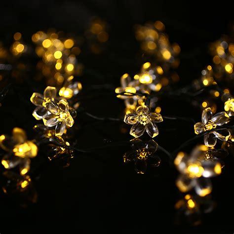 solar flower lights for garden 23ft 7m 50 led solar powered flower string