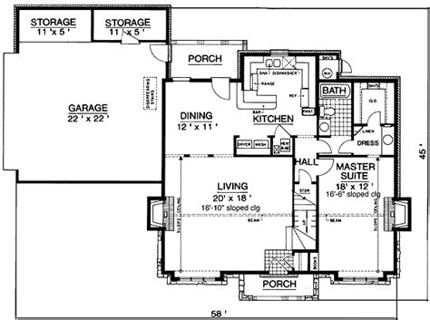 energy efficient tudor home plan 55087br 1st floor