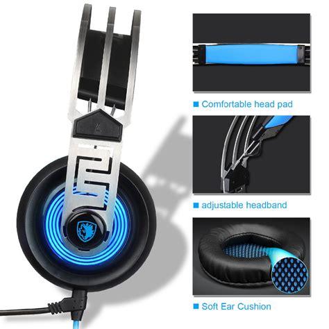 Sades Sades A9 Blue Led Gaming Headset 1 sades a7 gaming headphones with mic blue