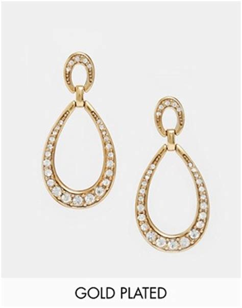 ladies 1920s jewelry styles fashion for flappers pilgrim deco drop earrings gold plated crystal