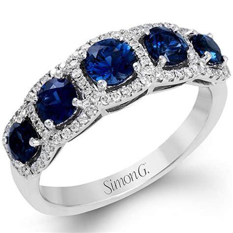 "Simon G Diamond Fashion 5 Diamond ""Halo"" Anniversary Ring"