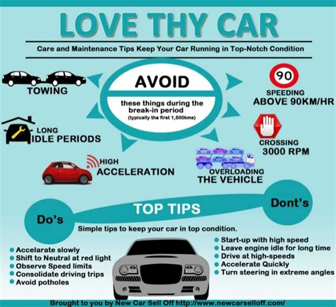 infographic care and maintenance tips for cars