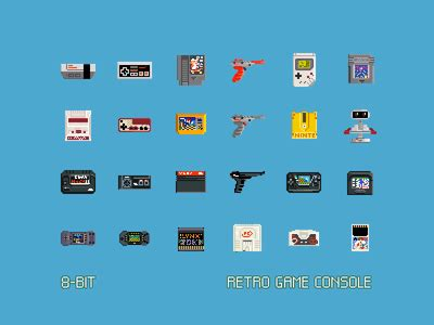console 8 bit 8 bit retro console freebie by claudio gomboli