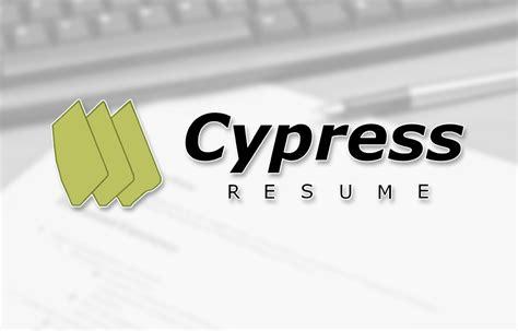 Cypress Resume by Cypress Resume Resume Ideas