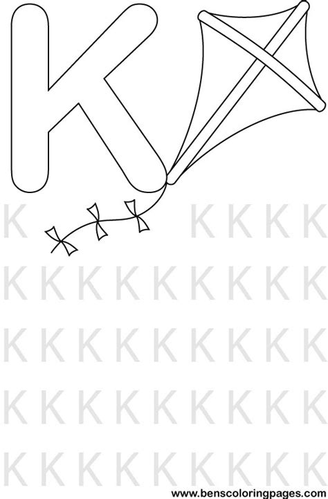 letter k preschool coloring pages