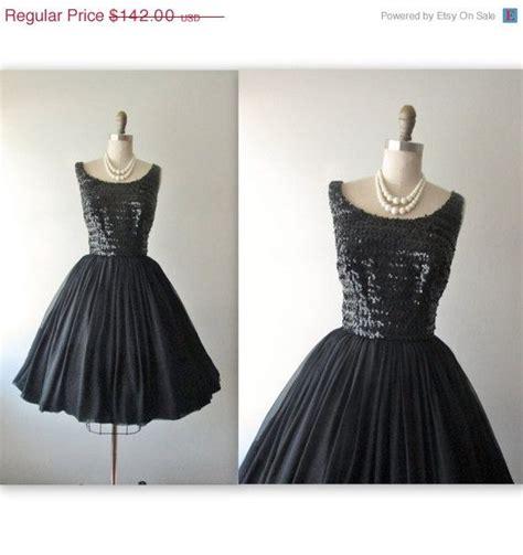 Sale 20172 Black Chiffon Retro storewide sale 50 s chiffon dress vintage 1950 s black
