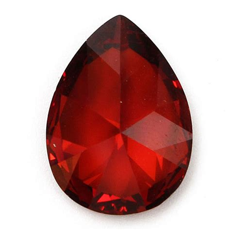 red gem 13x18mm red gemstone loose gem diy findings setting alex nld